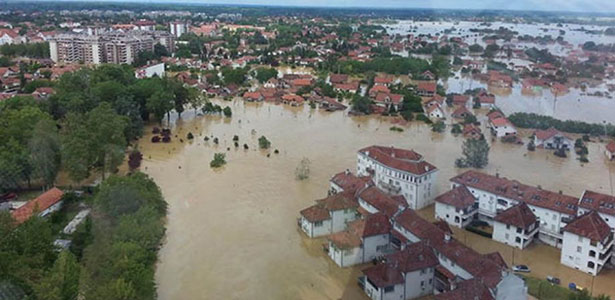 Obrenovac under water